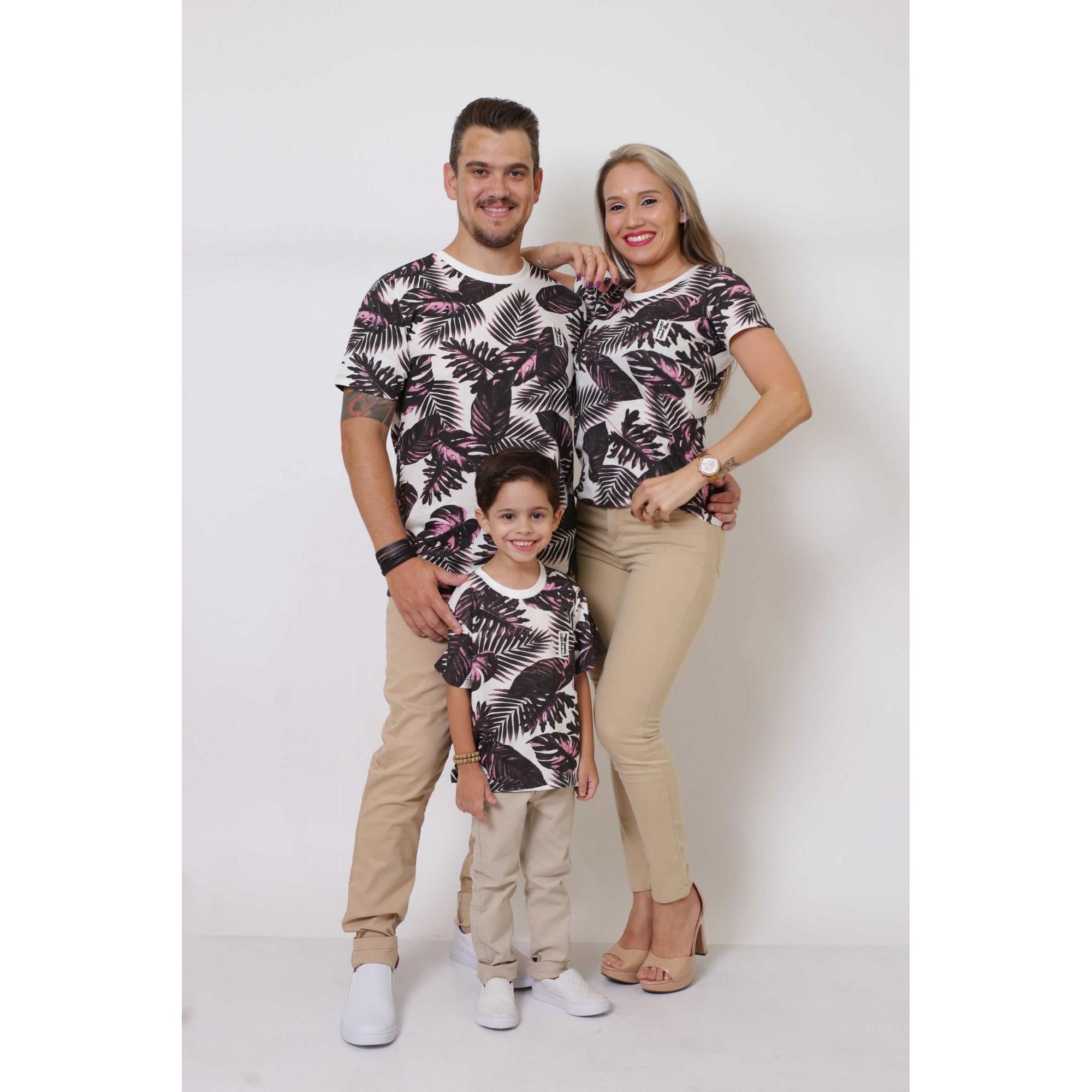 PAIS E FILHOS > Kit 3 Peças T-Shirt - Cancún [Coleção Família]
