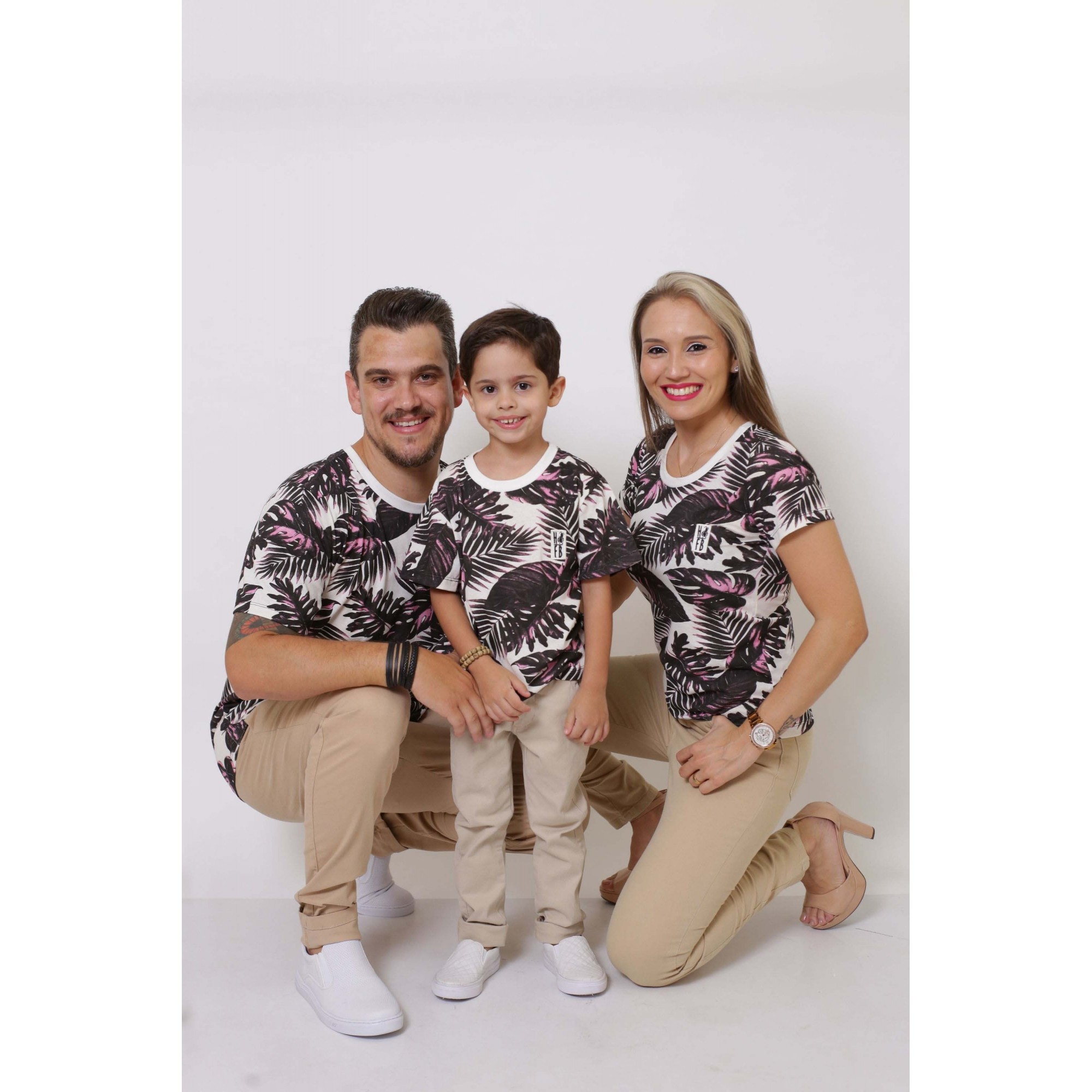PAIS E FILHOS > Kit 3 Peças T-Shirt - Cancún [Coleção Família]  - Heitor Fashion Brazil