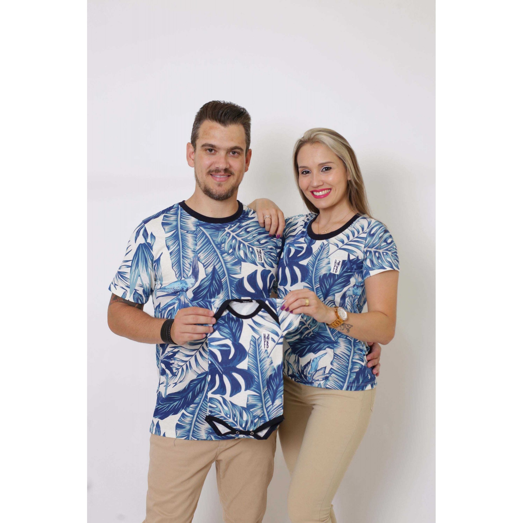 PAIS E FILHOS > Kit 3 Peças T-Shirt - Caribe [Coleção Família]  - Heitor Fashion Brazil