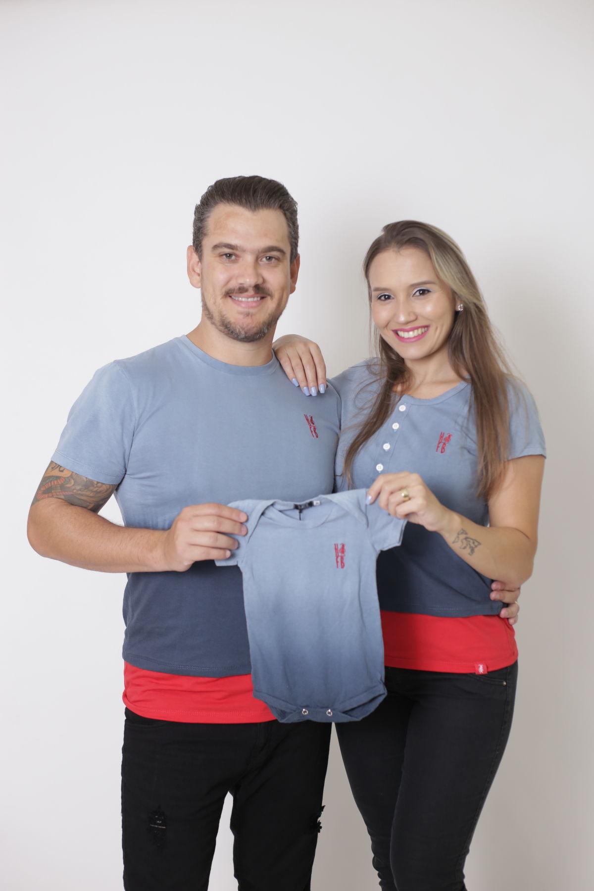 PAIS E FILHOS > Kit 3 Peças T-Shirt - Degradê [Coleção Família]  - Heitor Fashion Brazil