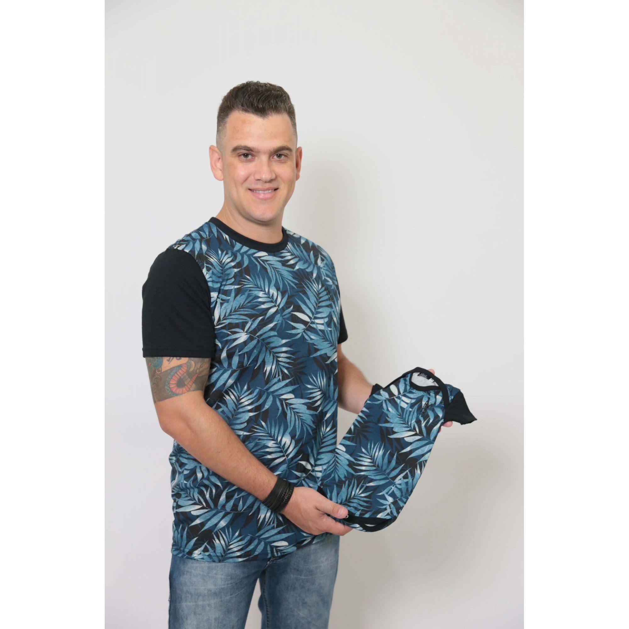 PAIS E FILHOS > Kit 3 Peças T-Shirt - Tropical [Coleção Família]  - Heitor Fashion Brazil