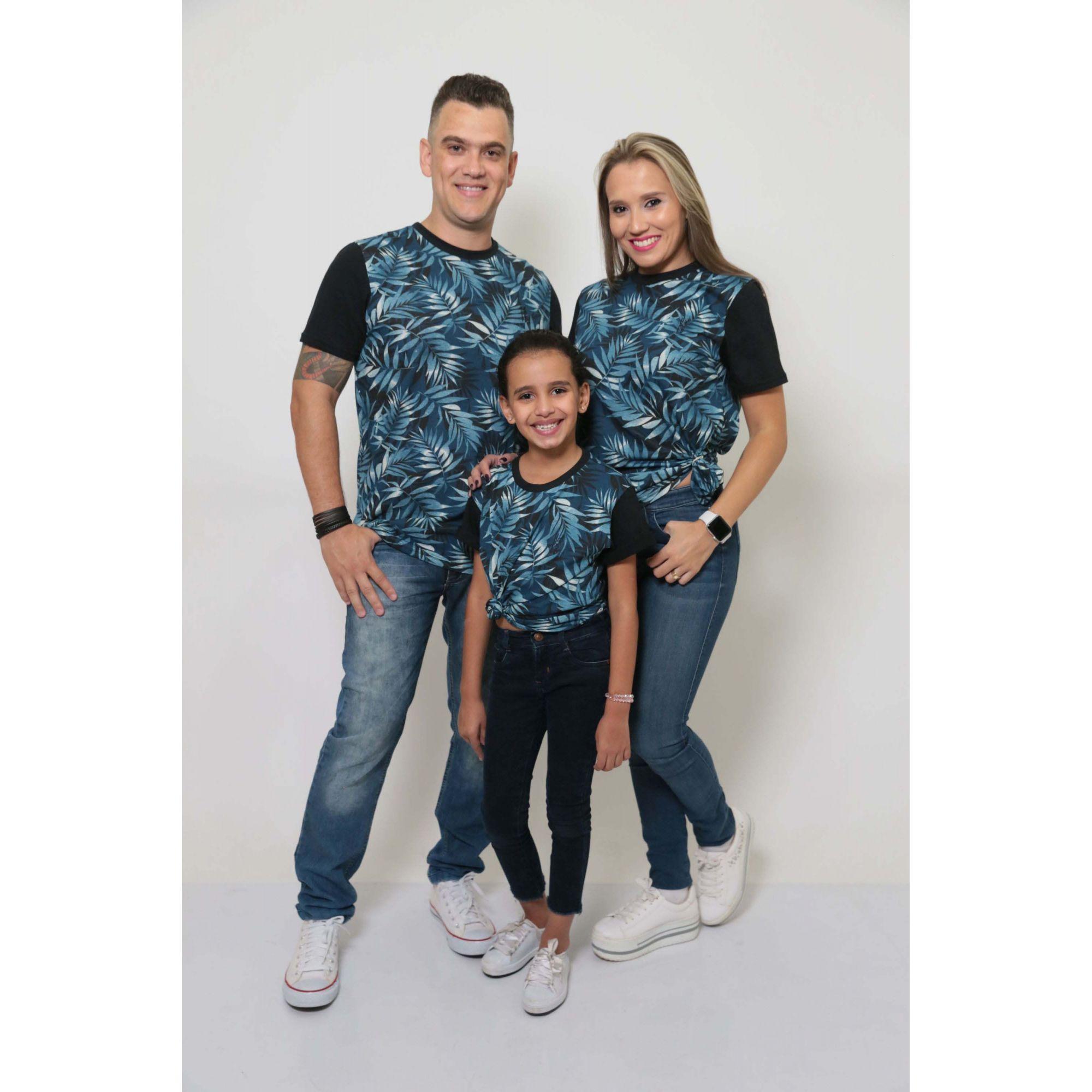 PAIS E FILHOS > Kit 3 Peças T-Shirt - Tropical - Unissex [Coleção Família]