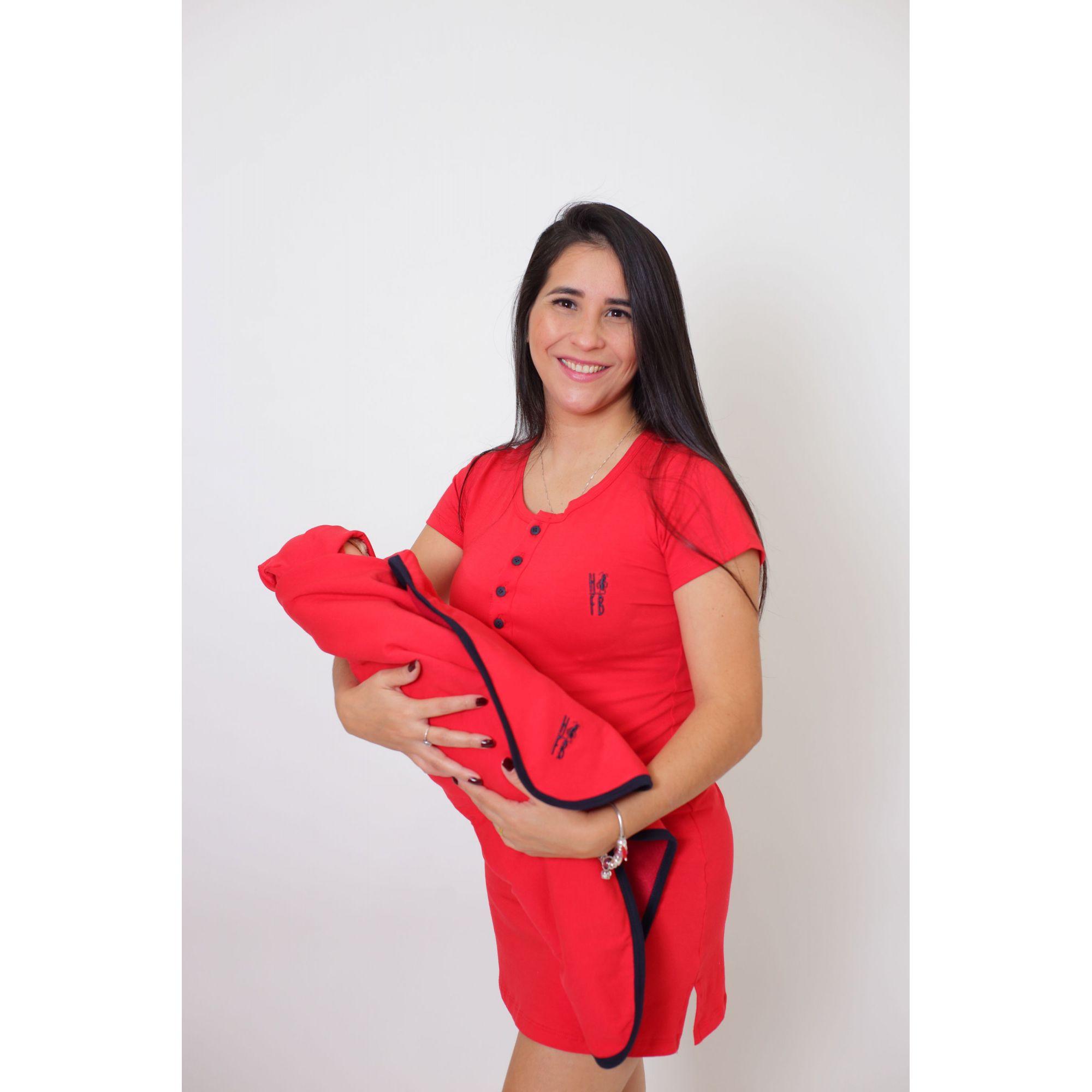 PAIS E FILHOS > Kit Saída de Maternidade 5 Peças - Vermelho [Coleção Família]  - Heitor Fashion Brazil