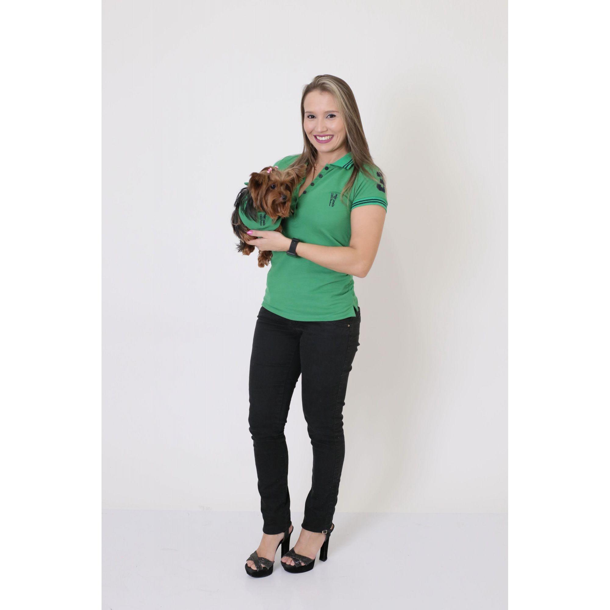 cb7174c236 ... PAIS E PET   Kit 3 peças Camisas Polo + Bandana - Verde Esperança   Coleção ...
