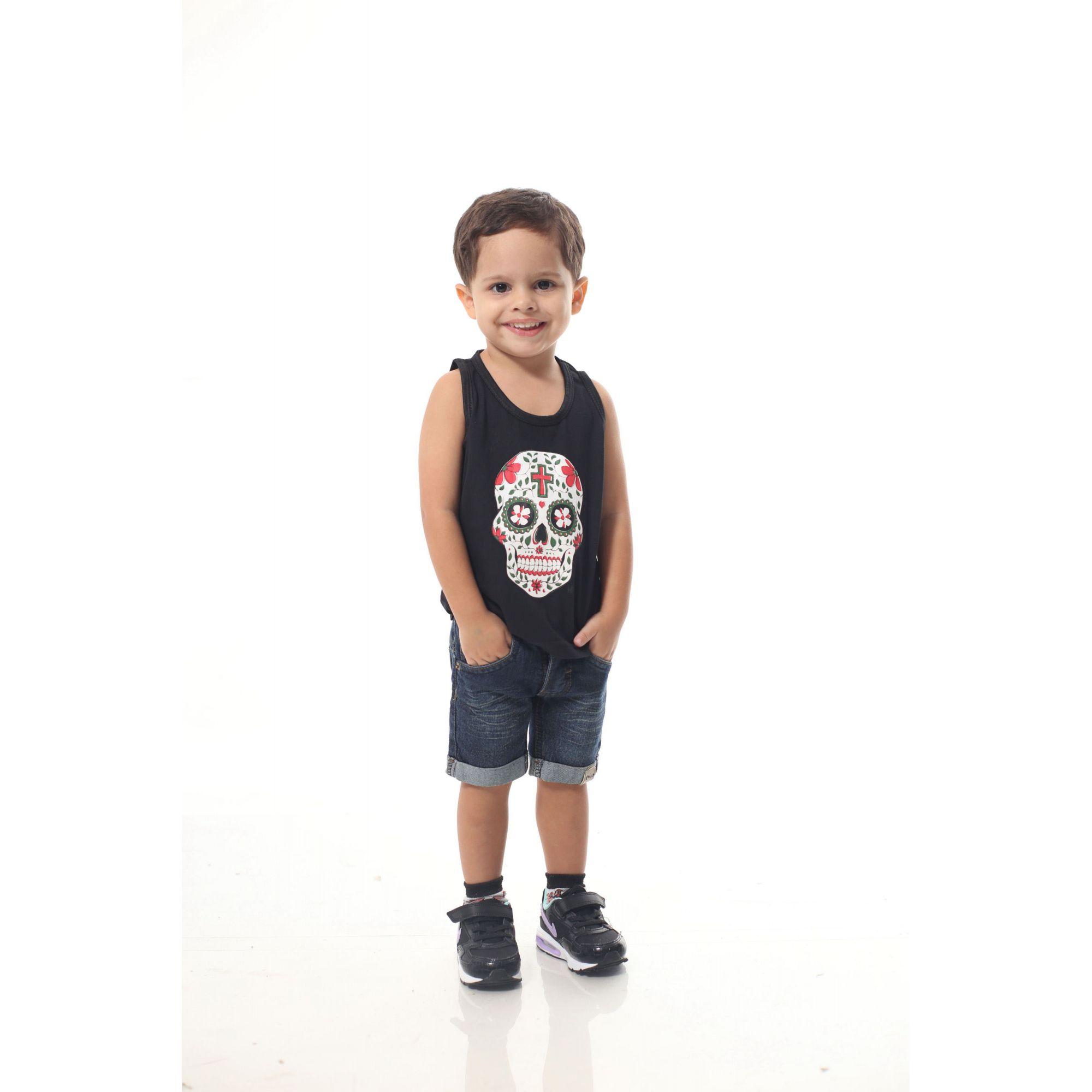 Regata Infantil Caveira Mexicana  - Heitor Fashion Brazil