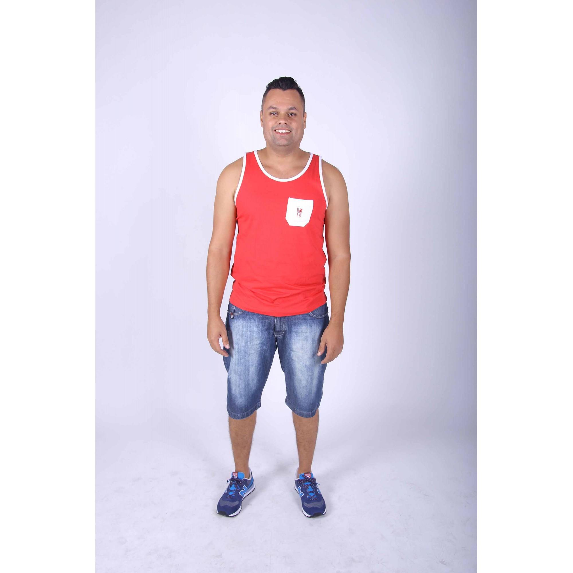 Regata Masculina Vermelha  - Heitor Fashion Brazil