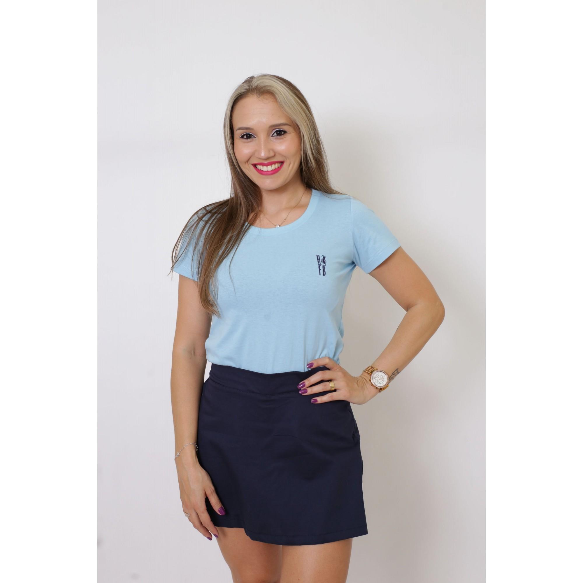 T-Shirt Azul Bebê Feminina