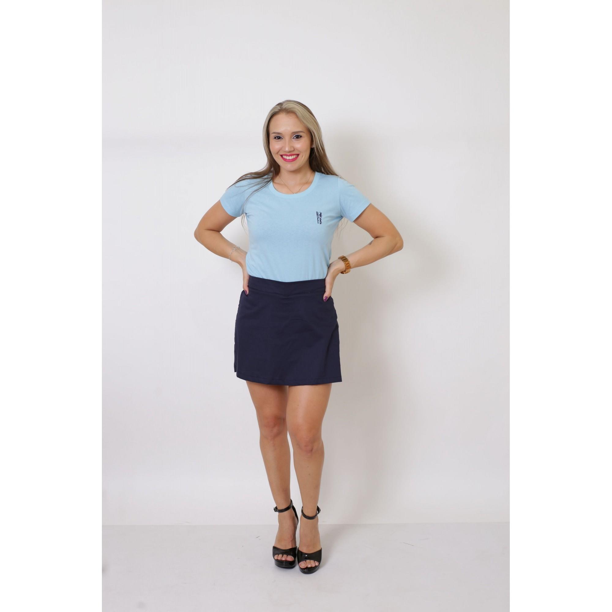 T-Shirt Azul Bebê Feminina  - Heitor Fashion Brazil