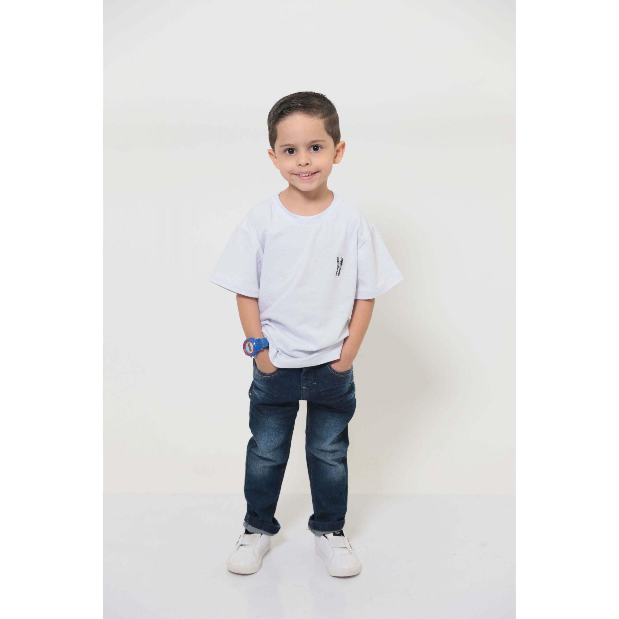 T-Shirt ou Body Branca - Infantil - Unissex