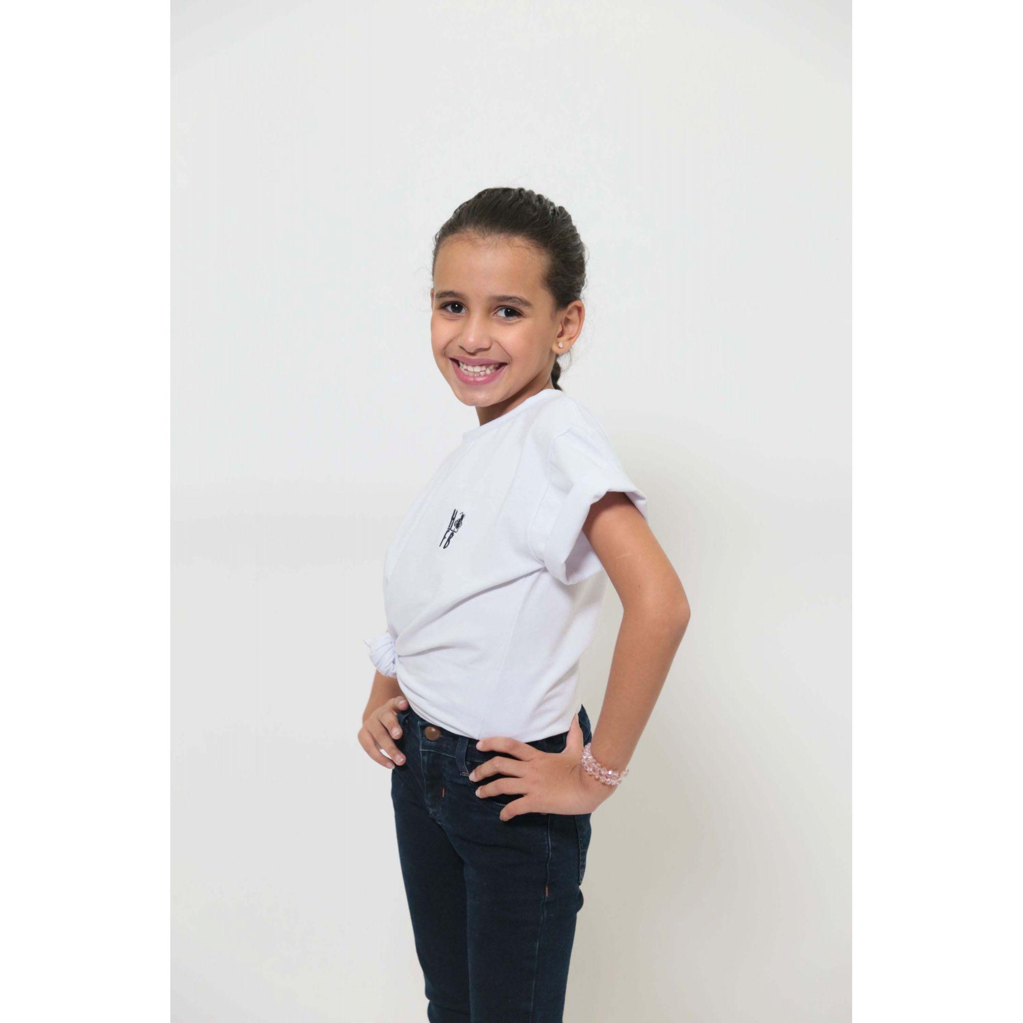 T-Shirt ou Body Branca - Infantil - Unissex   - Heitor Fashion Brazil