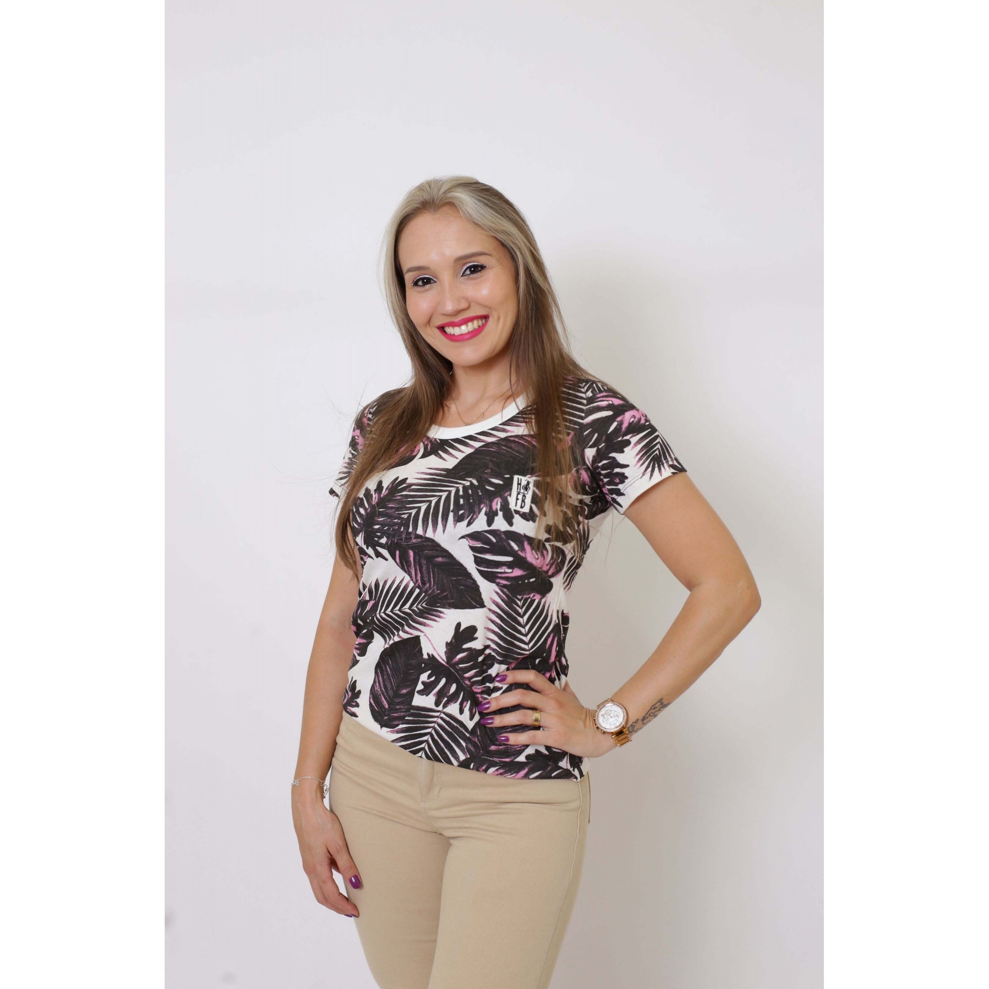 T-Shirt Cancún Feminina - Heitor Fashion Brazil