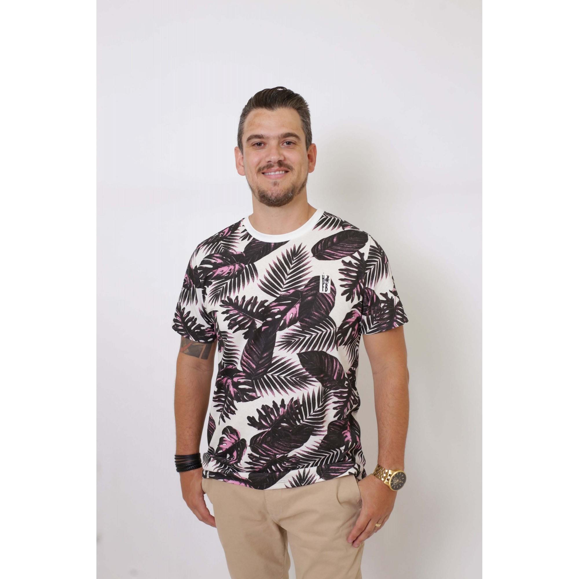 T-Shirt - Cancún Masculina   - Heitor Fashion Brazil