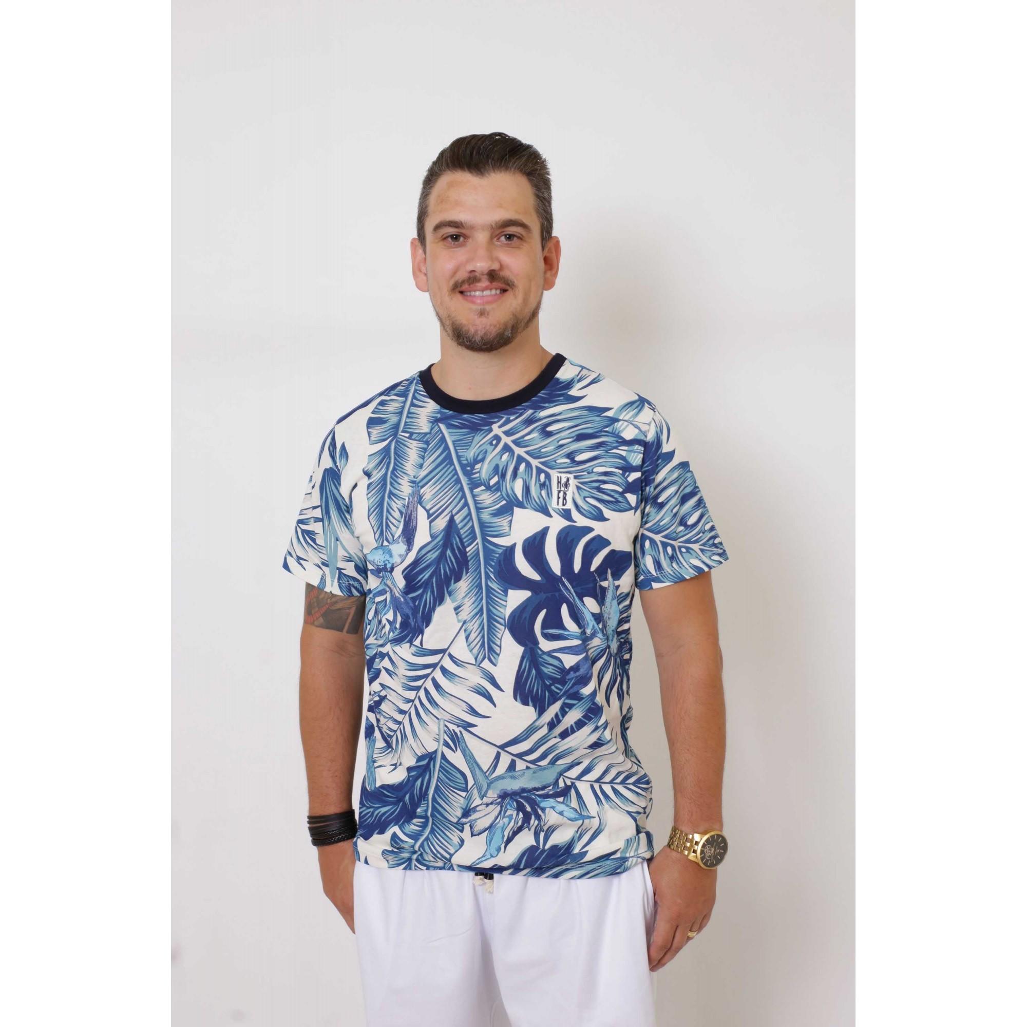 T-Shirt - Caribe Masculina   - Heitor Fashion Brazil