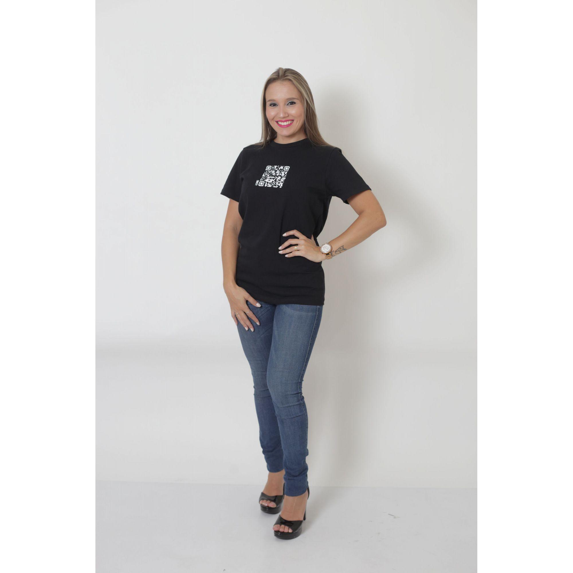 T-Shirt - Qrcode - Unissex   - Heitor Fashion Brazil