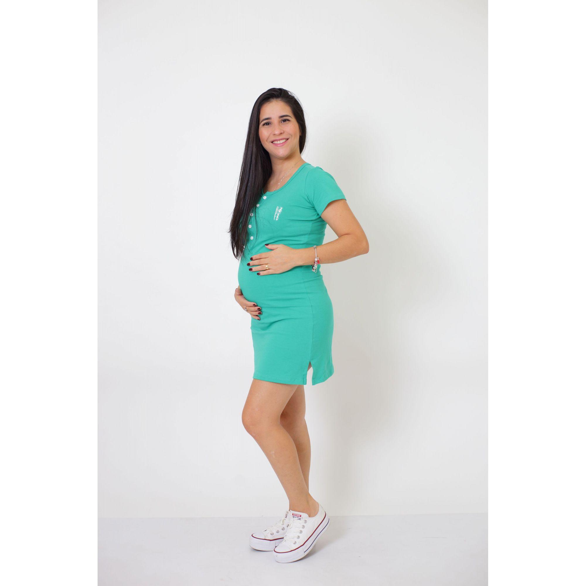 Vestido Henley Verde Jade    - Heitor Fashion Brazil