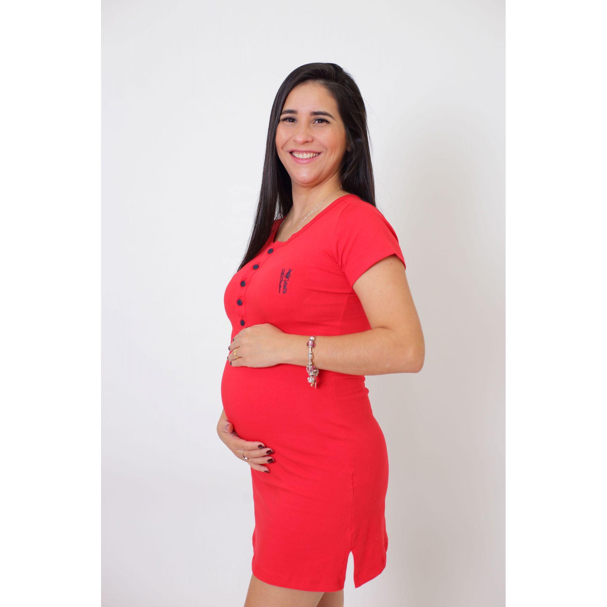 Vestido Henley Vermelho   - Heitor Fashion Brazil