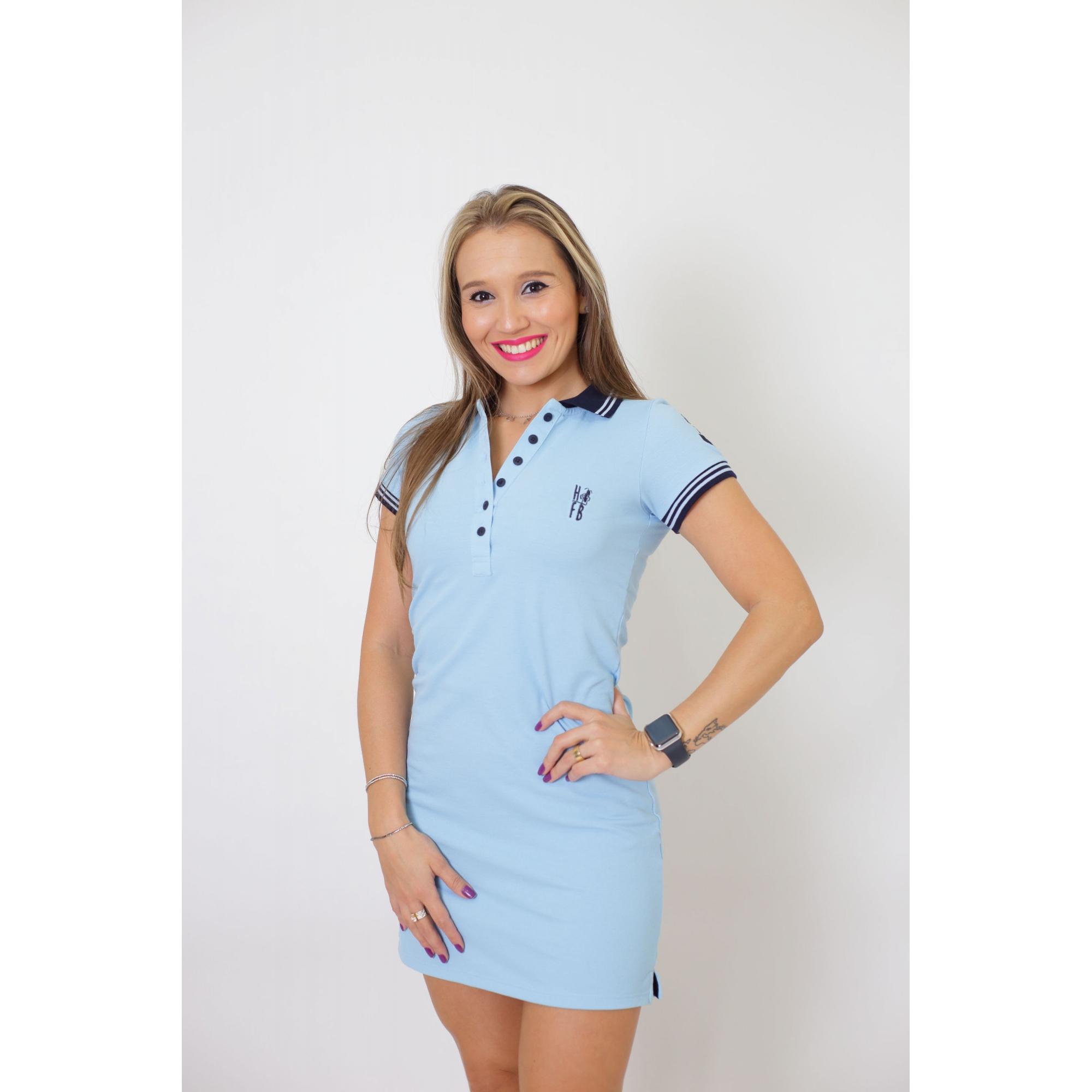 Vestido Polo Azul Claro