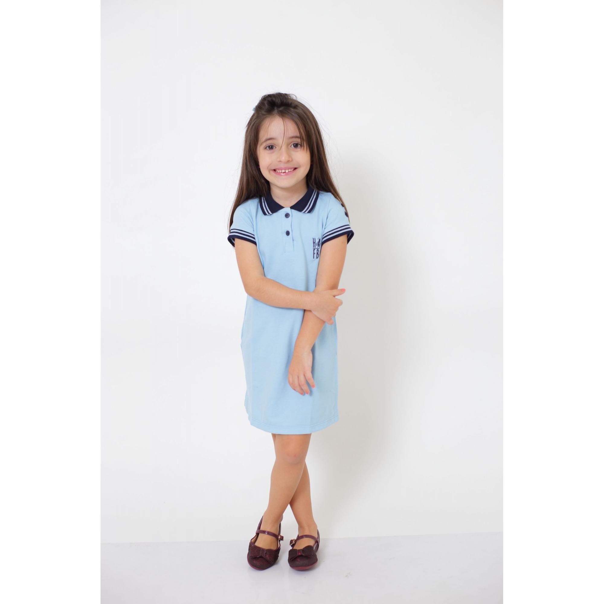 Vestido Polo Azul Claro Infantil
