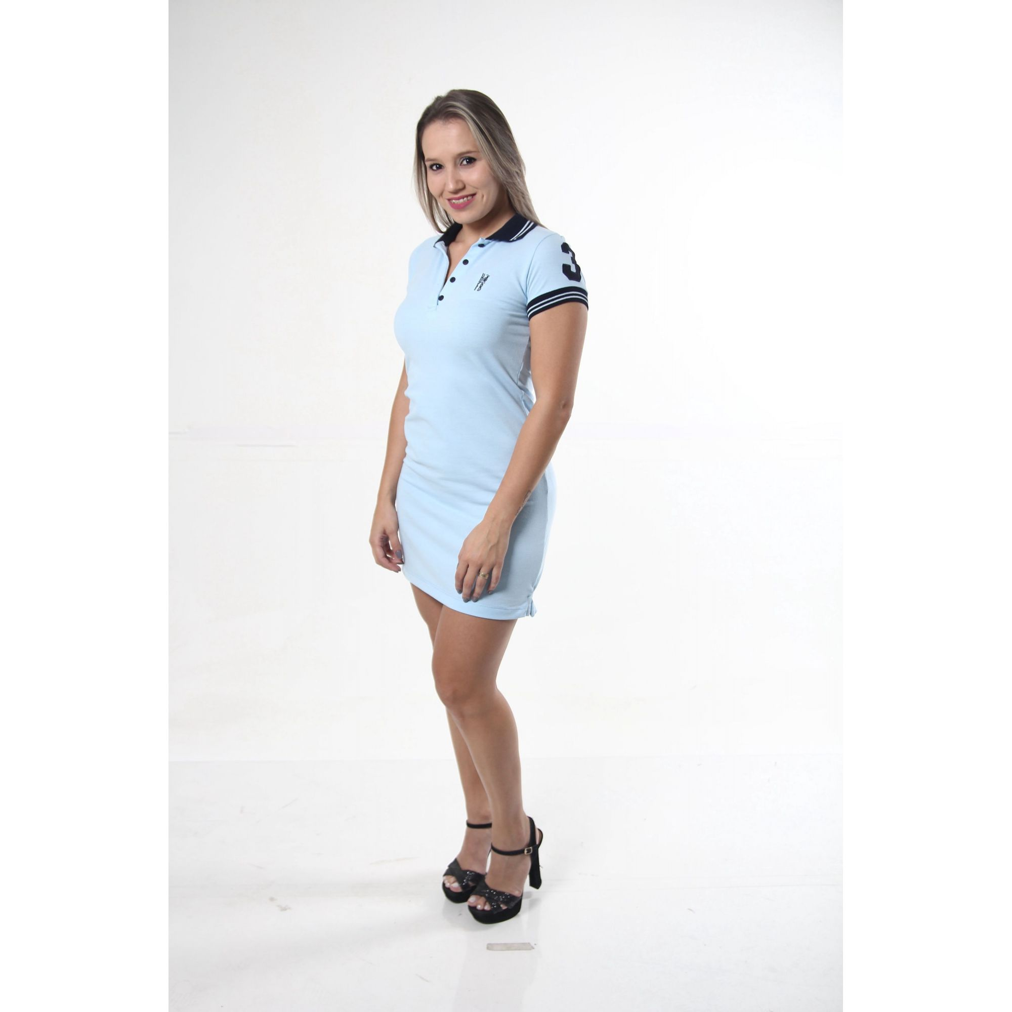 Vestido Polo Azul Nobreza  - Heitor Fashion Brazil