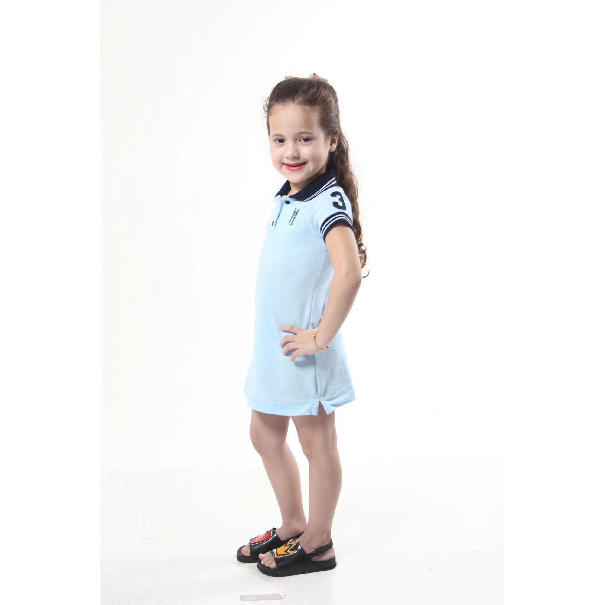 Vestido Polo Azul Nobreza Infantil