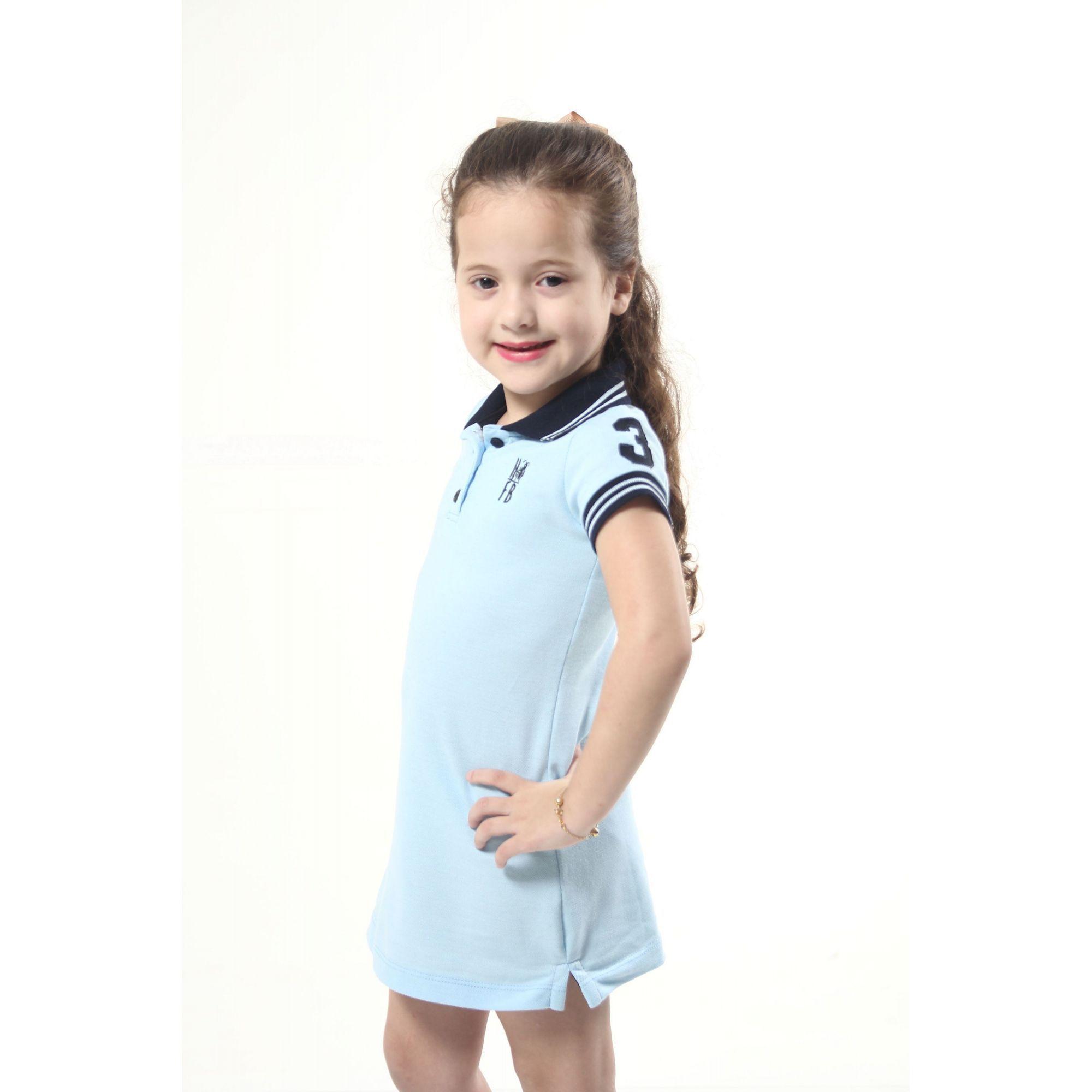 Vestido Polo Azul Nobreza Infantil  - Heitor Fashion Brazil