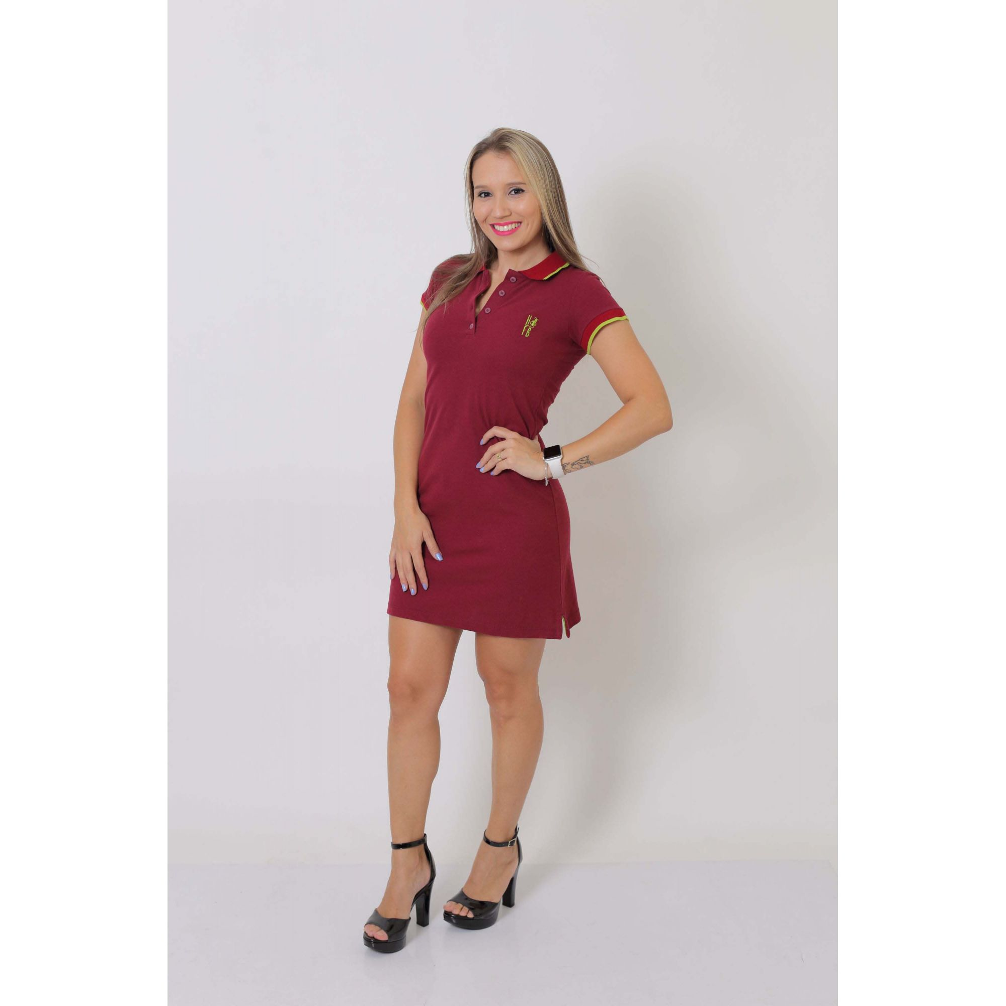 Vestido Polo Bordo  - Heitor Fashion Brazil