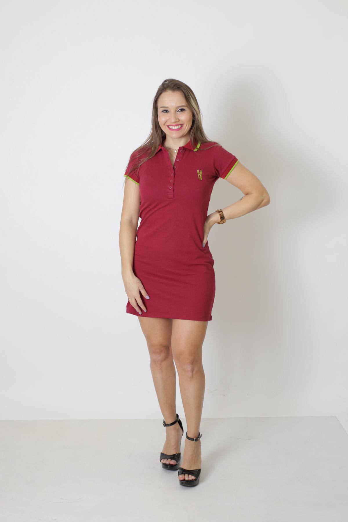 Vestido Polo Bordo  - Heitor Fashion Brazil
