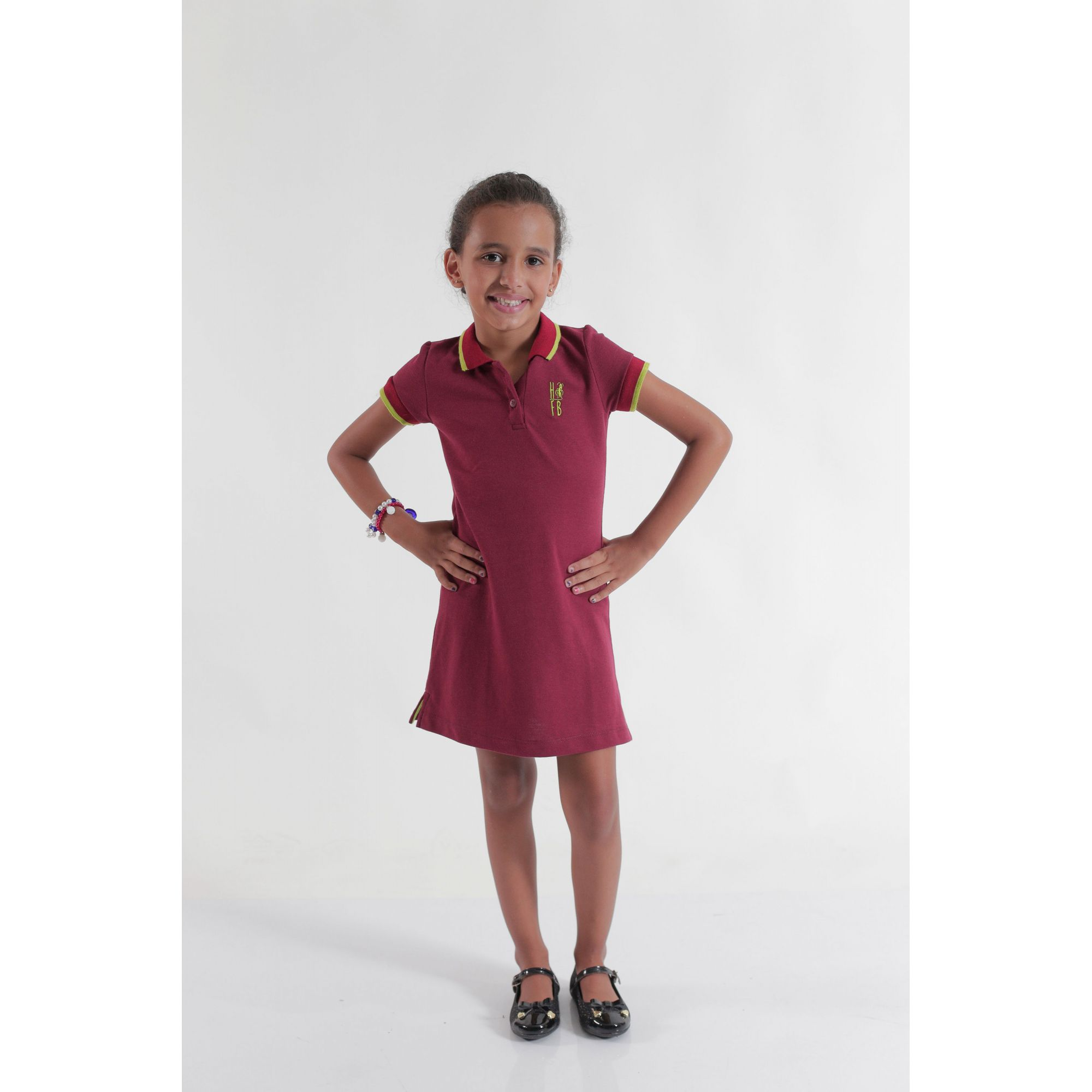 Vestido Polo Infantil Bordo  - Heitor Fashion Brazil