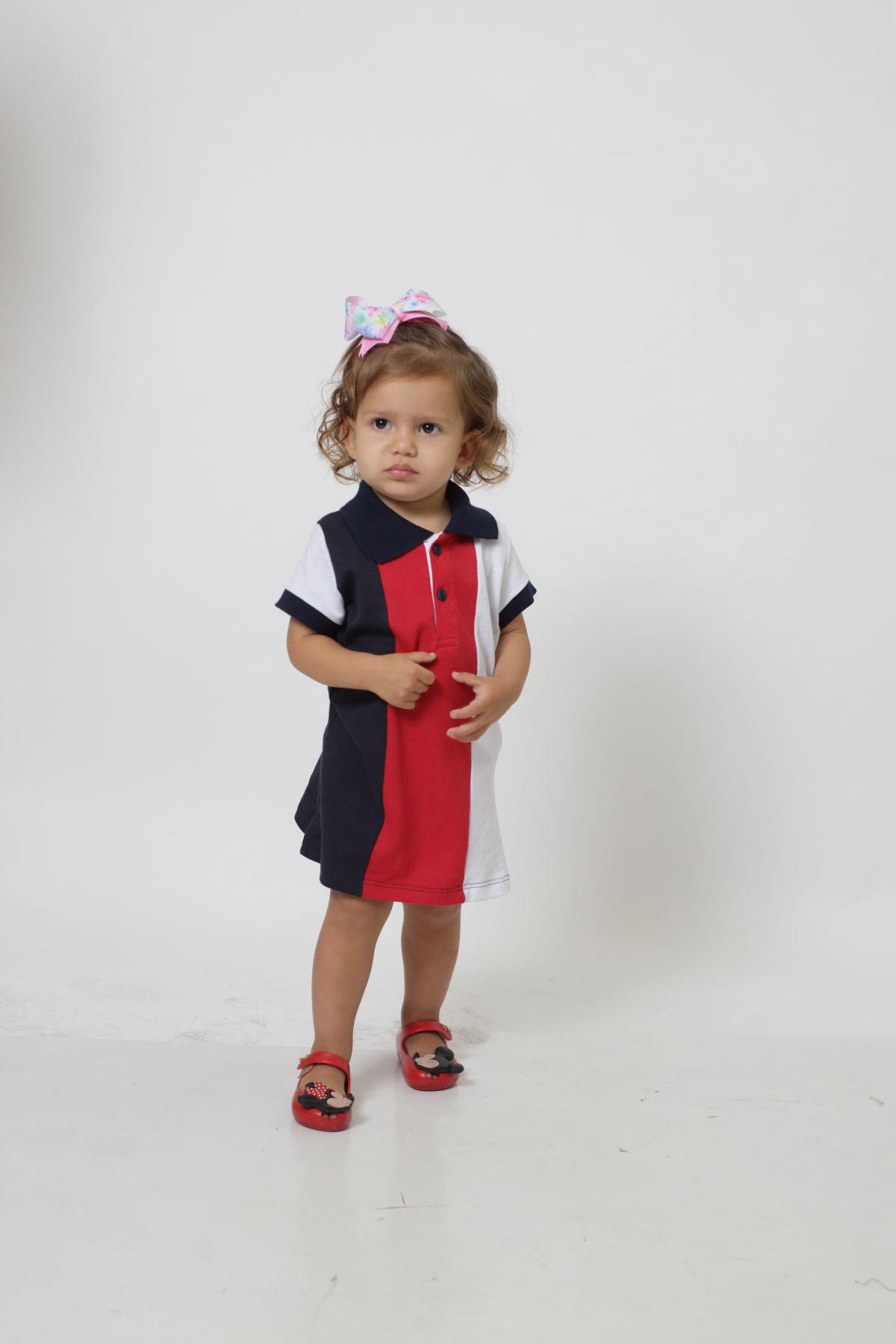 Vestido Polo Infantil Listrado King