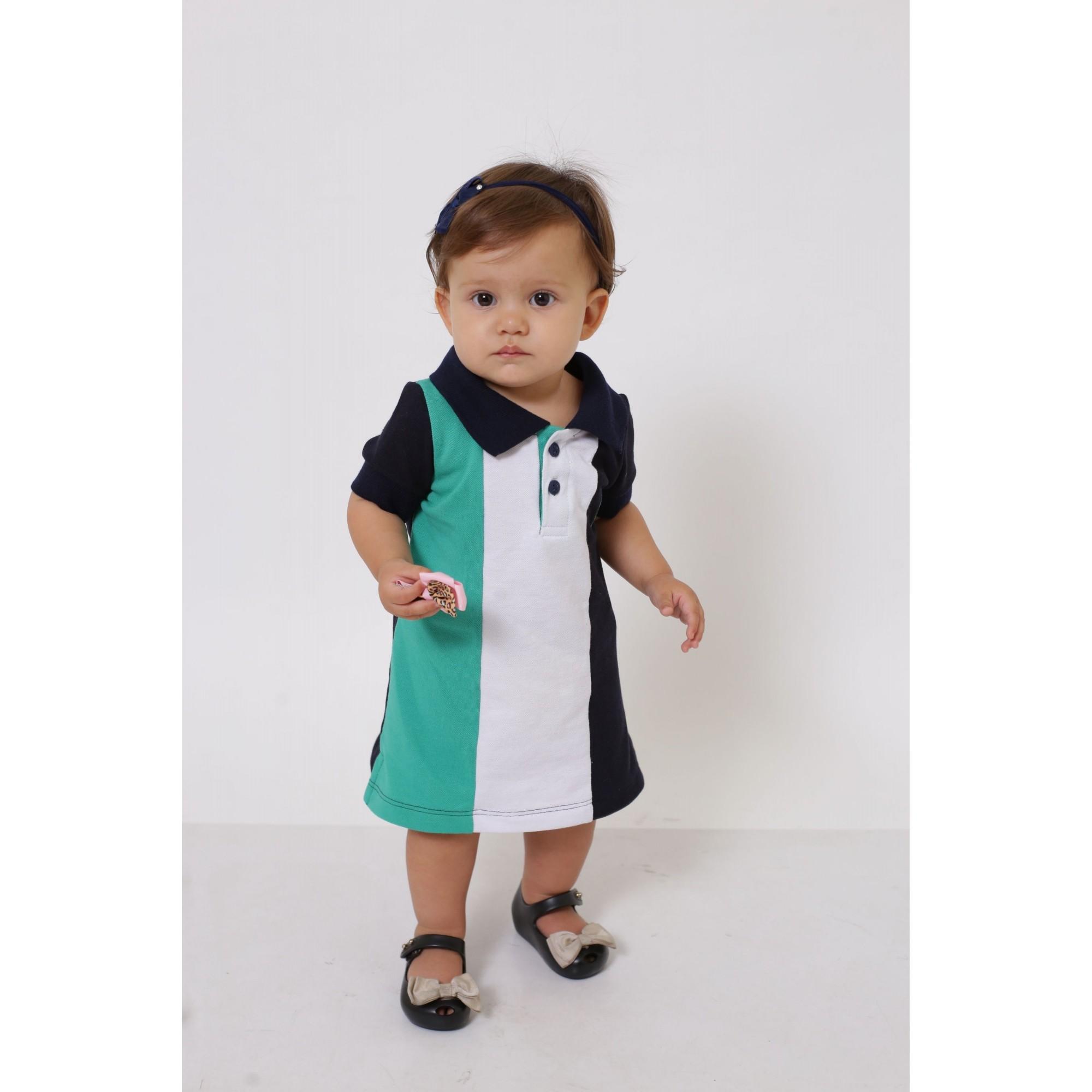 Vestido Polo Infantil Listrado Prince  - Heitor Fashion Brazil