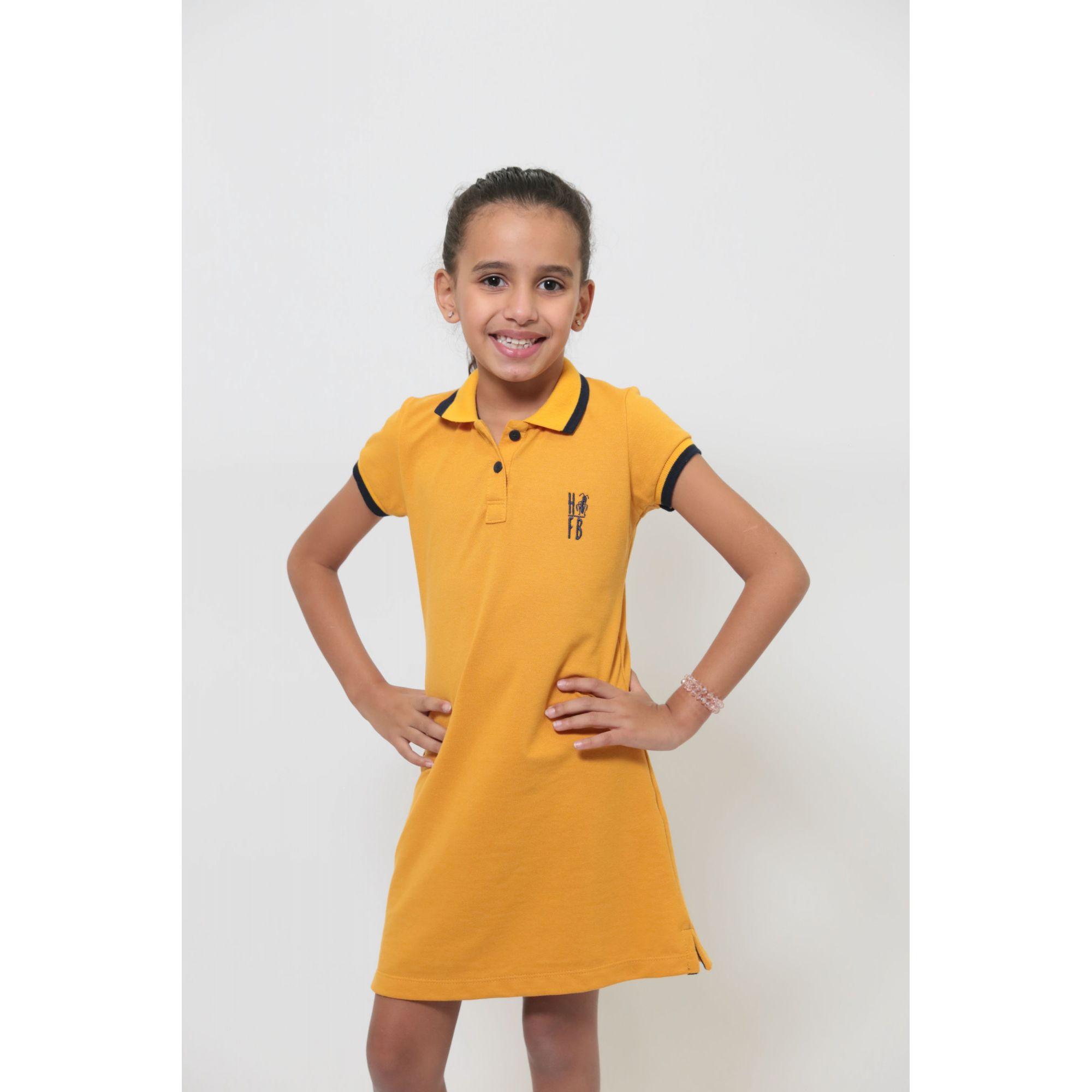 Vestido Polo Infantil Mostarda