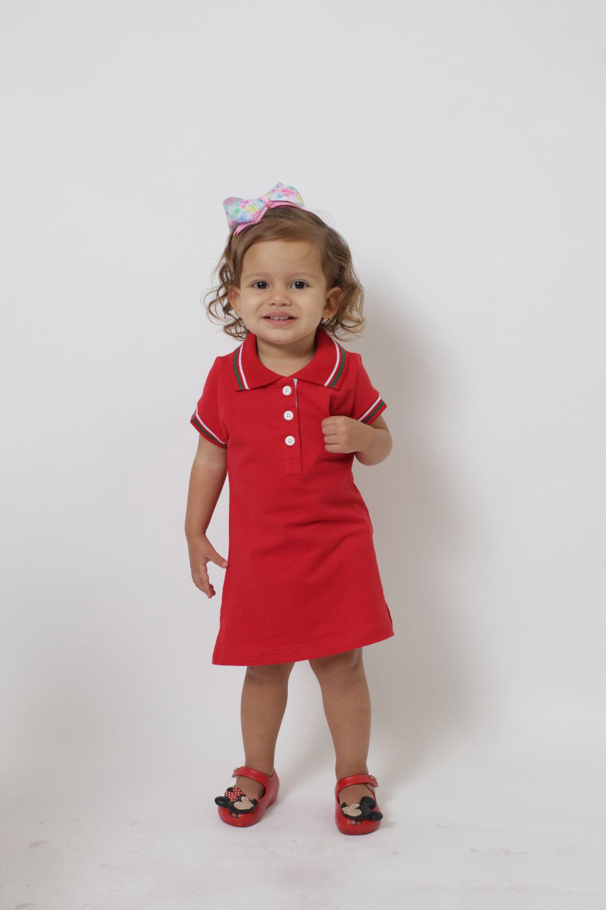 Vestido Polo Infantil Vermelho PREMIUM