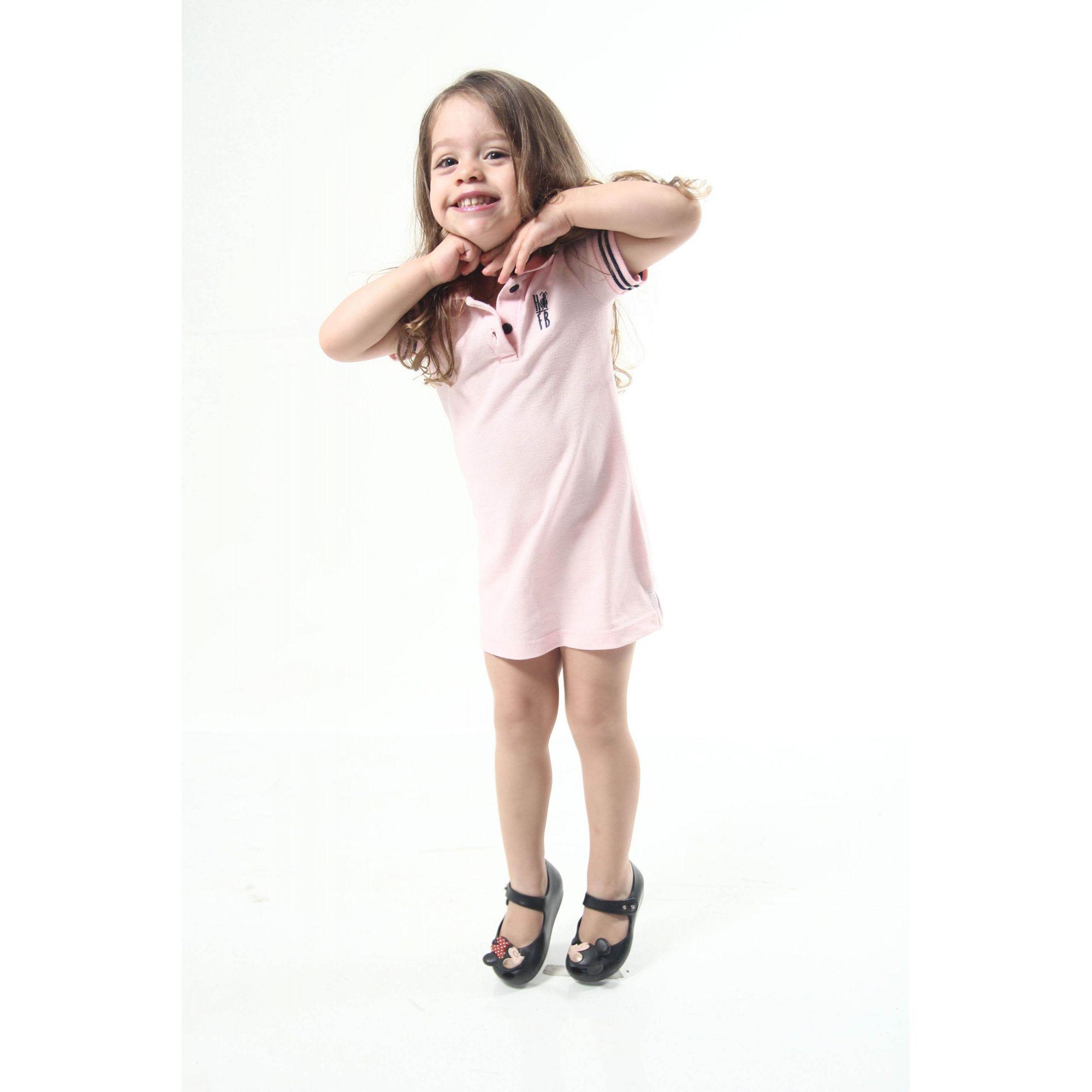 Vestido Polo Rosa Amor Infantil