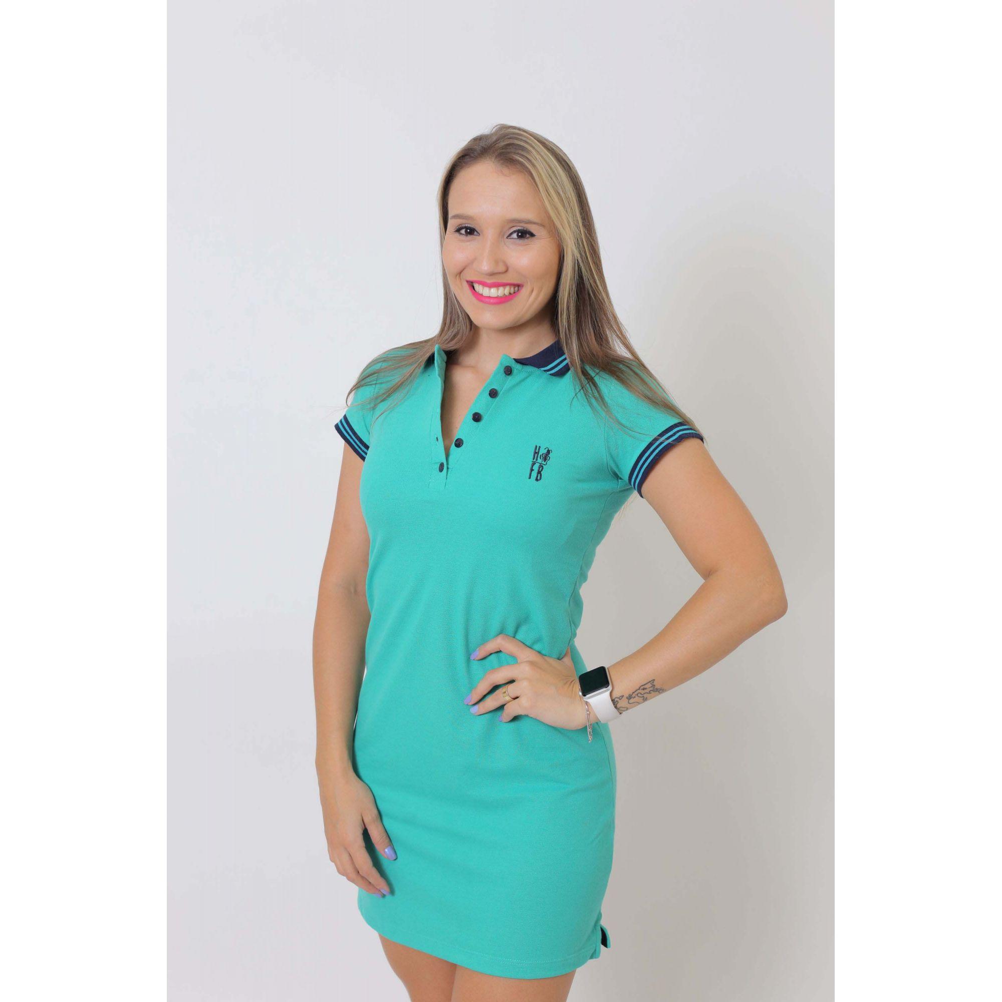 Vestido Polo Verde Jade  - Heitor Fashion Brazil