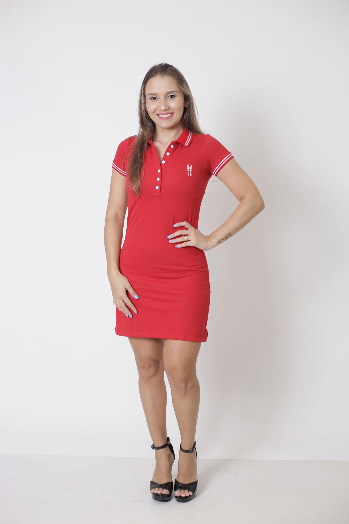 Vestido Polo Vermelho Paixão  - Heitor Fashion Brazil