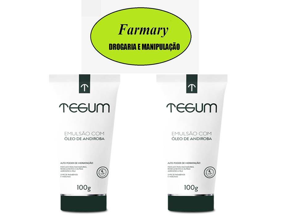 TEGUM -  Oleo De Andiroba 100g  Kit com 2
