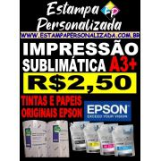 Impressão Sublimática A3+ com Papel E Tinta Original Epson