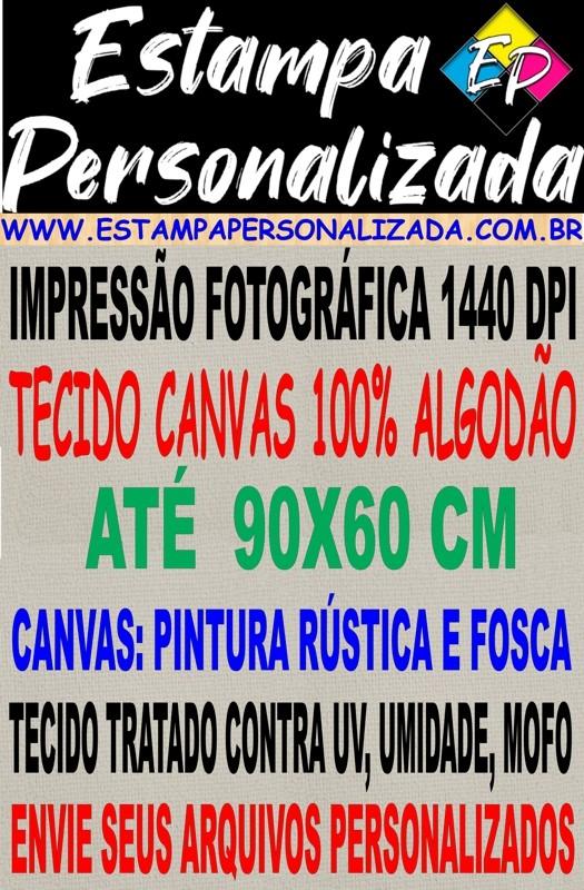Impressão em Tecido Canvas Fosco (Tela de Pintura Fosca e Cores Foscas - 100% Algodão) até 90X60 cm