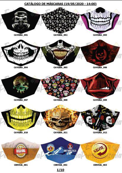 Máscara de Proteção Personalizada em Tecido Lavável