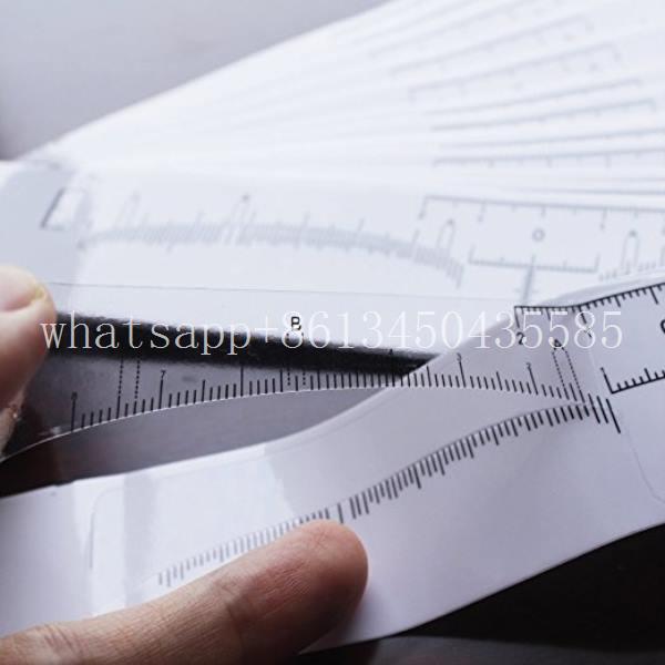 Régua Adesiva para Marcação e Design - 10 unidades  - Tebori Nordeste