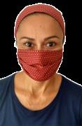 Máscara de Tecido com Faixa de Cabelo - Unidade