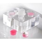 Porta Batoque e Tebori Acrílico GR Colors - 4 furos + 50 Batoques