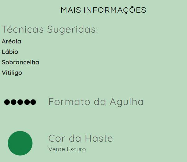 Agulha GR Colors - 5 pontas LINEAR (Flat)  - Tebori Nordeste