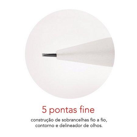 Agulha Rosca Dermomag Pen e Junior - 5 pontas FINE  - Tebori Nordeste