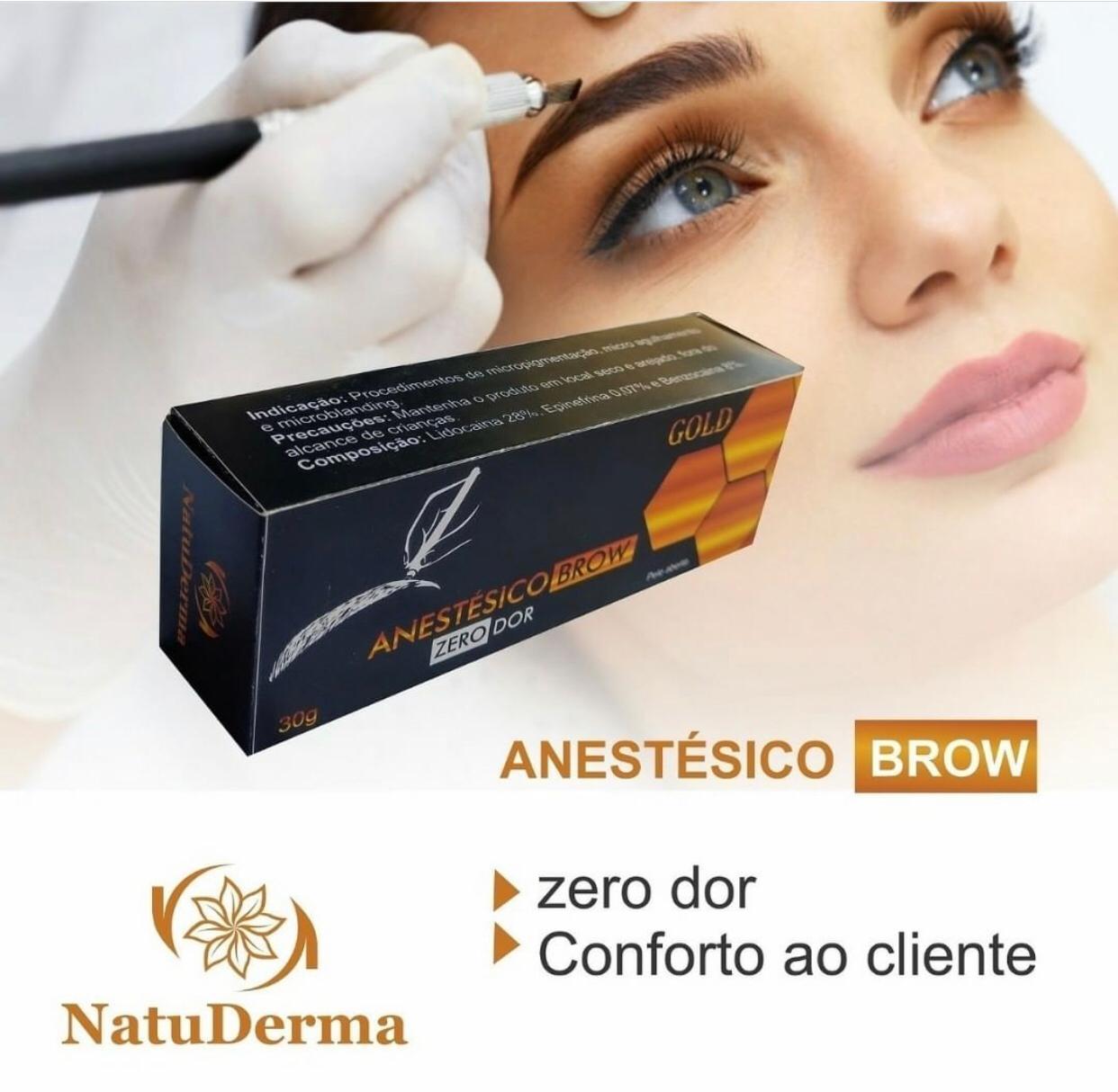 Anestésico Gold ZERO DOR NatuDerma - Sobrancelhas  - Tebori Nordeste