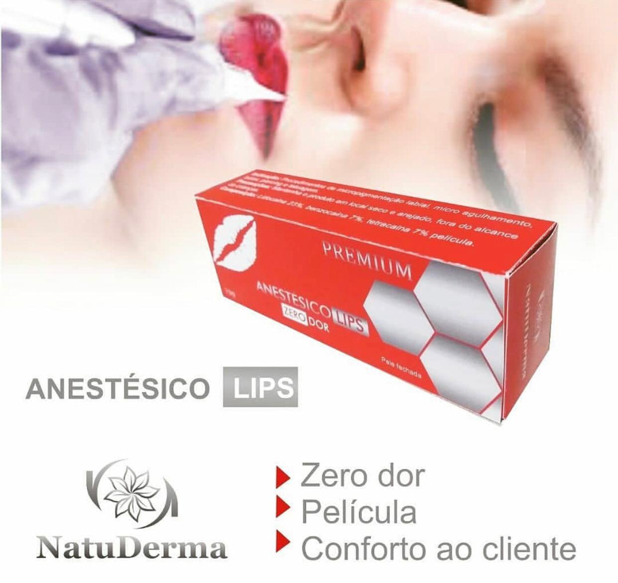 Anestésico Labial Premium NatuDerma - com película aplicadora  - Tebori Nordeste