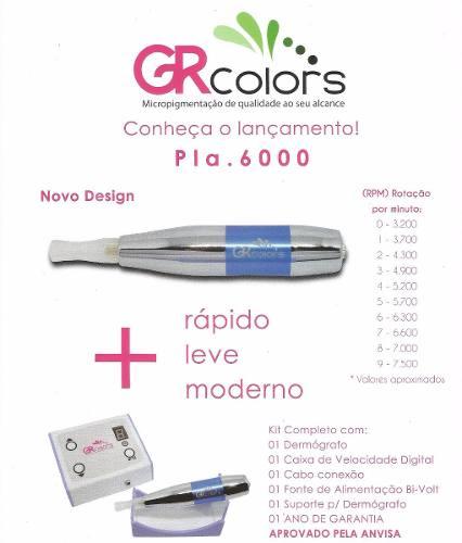 Dermógrafo GR Colors - Platinum 6000  - Tebori Nordeste