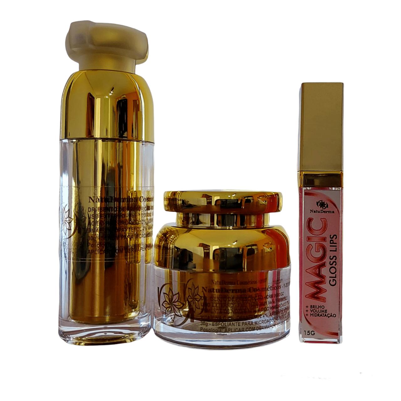 Kit Hydra Gloss - Magic Gloss Lips NatuDerma  - Tebori Nordeste
