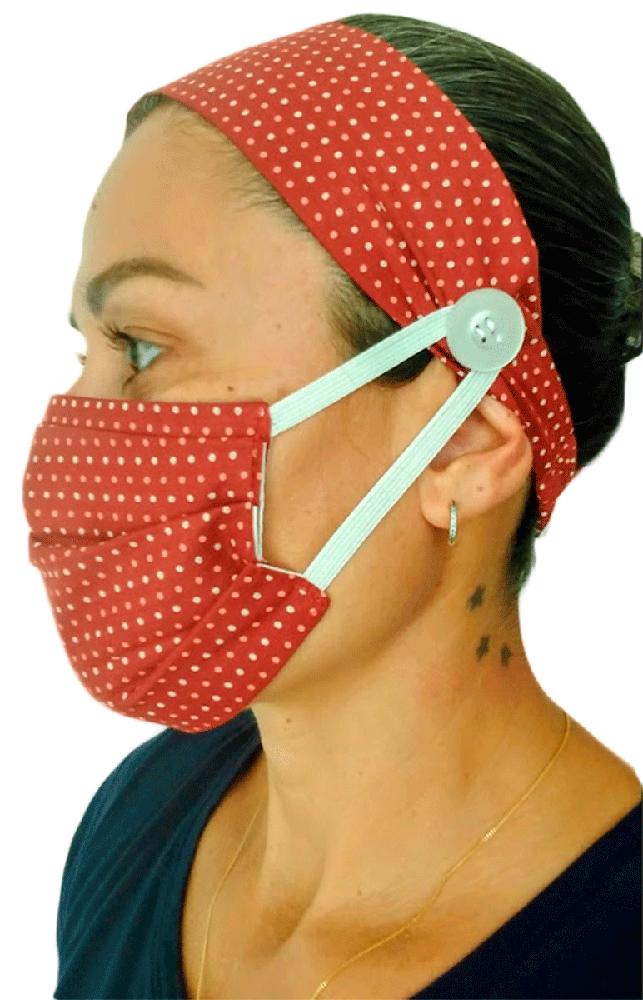 Máscara de Tecido com Faixa de Cabelo - Unidade  - Tebori Nordeste