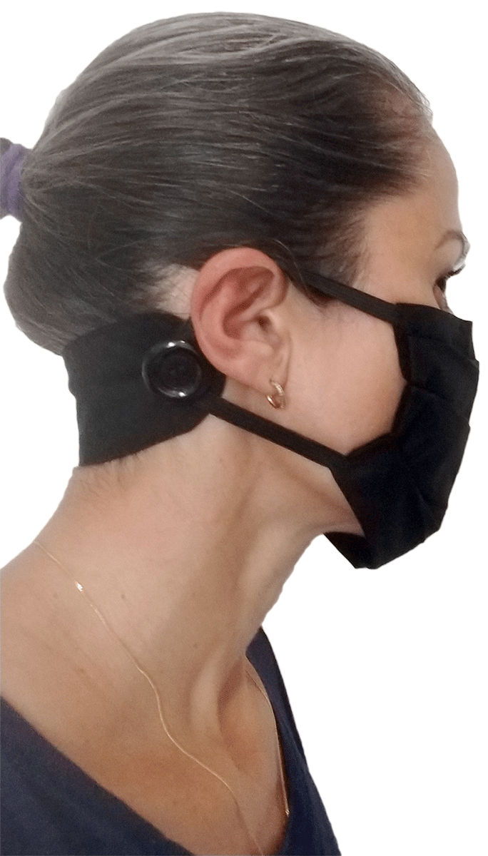 Máscara de Tecido com Suporte de Fixação - Unidade  - Tebori Nordeste